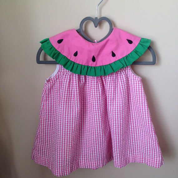 Katie M Toddler Girls Watermelon Sundress Pink 5T Check