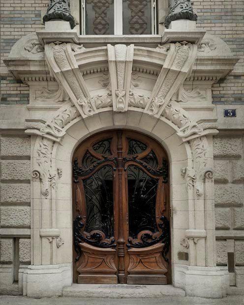 Neutral Paris Door photograph, Brown Door Print, Beige, wall decor, Art Nouveau Architecture Print, Paris Decor
