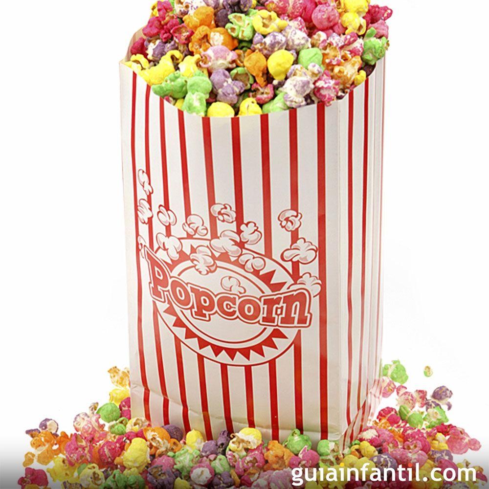Palomitas dulces de colores para niños | Palomitas dulces, Colores ...