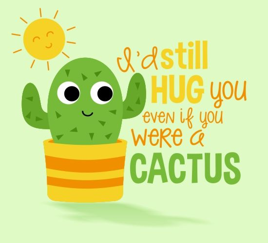 Send this cactus card to a good friend or loved one, to bring a smile to their face!