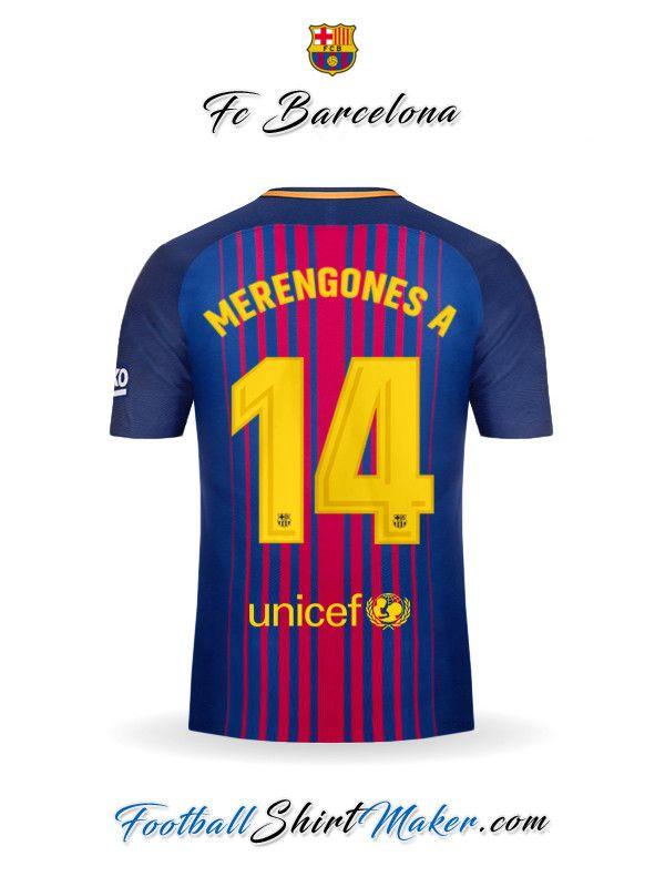 36b5c7cc467a1 Camiseta FC Barcelona 2017 2018 Merengones a 14