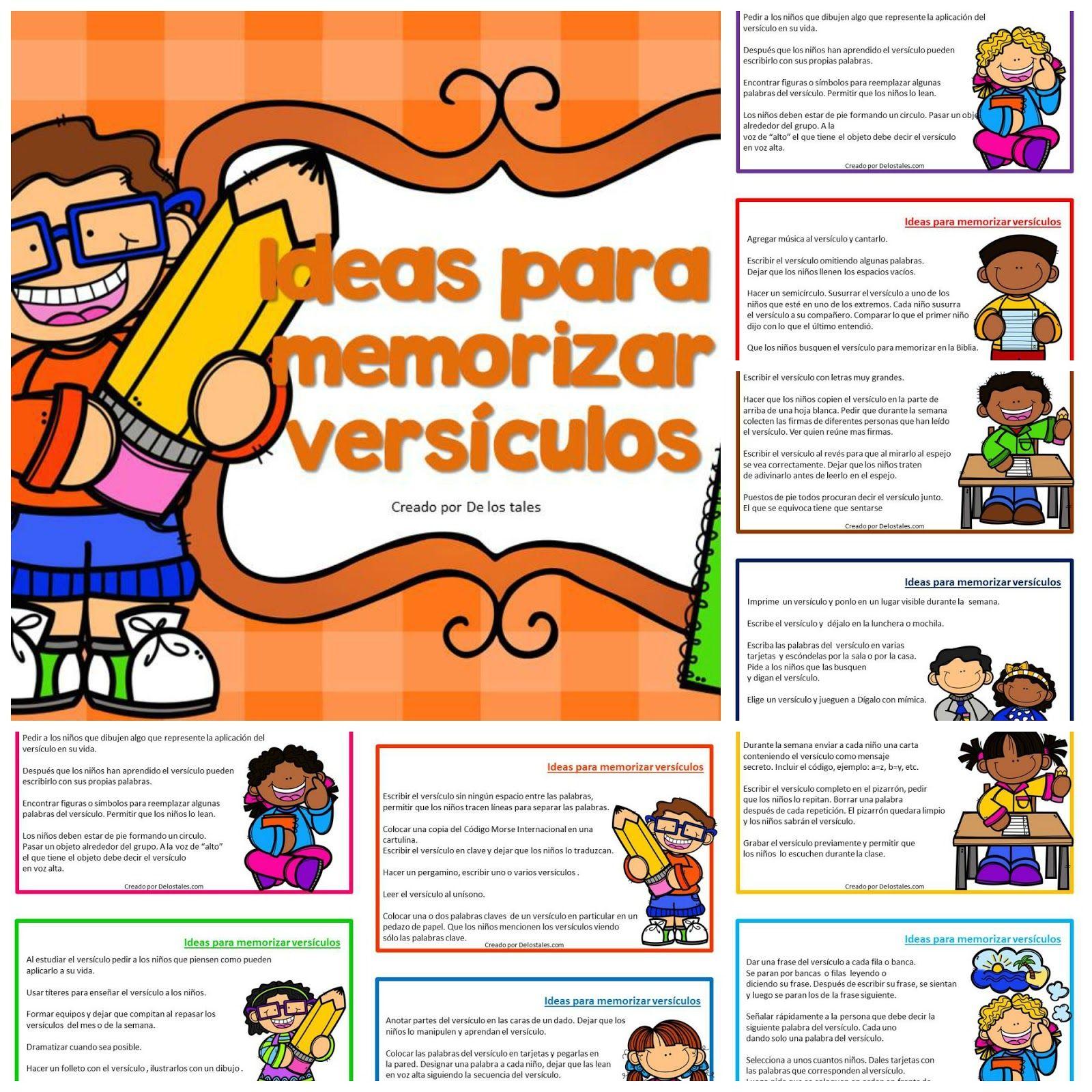ideas para memorizar versículos, versículos bíblicos, infantil ...