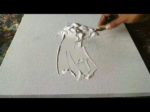 Cours Peinture Acrylique 4 : Comment Appliquer Des Gels Sableux Peinture  Acrylique ?   YouTube