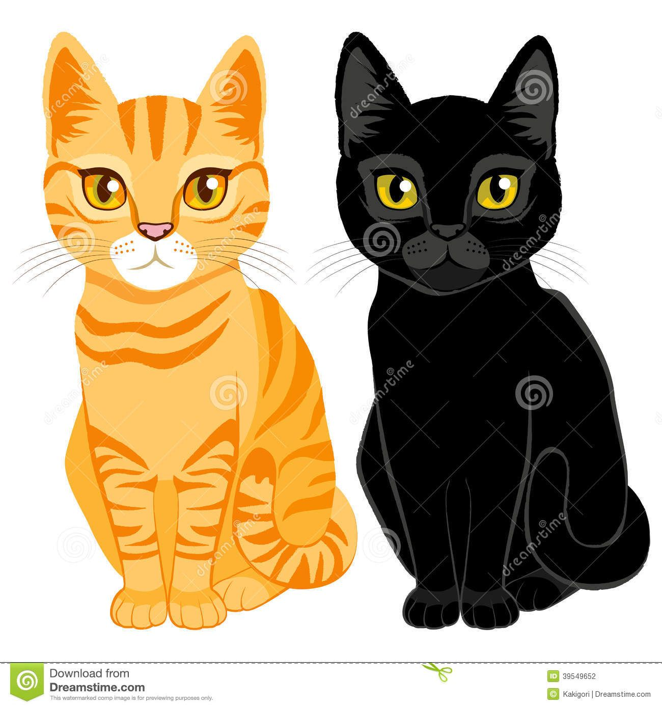 Tabby And Black Cats Download From Over 68 Million High Quality Stock Photos Images Vectors Sign Up For Fr Black Cat Artwork Black Cat Tattoos Cat Clipart