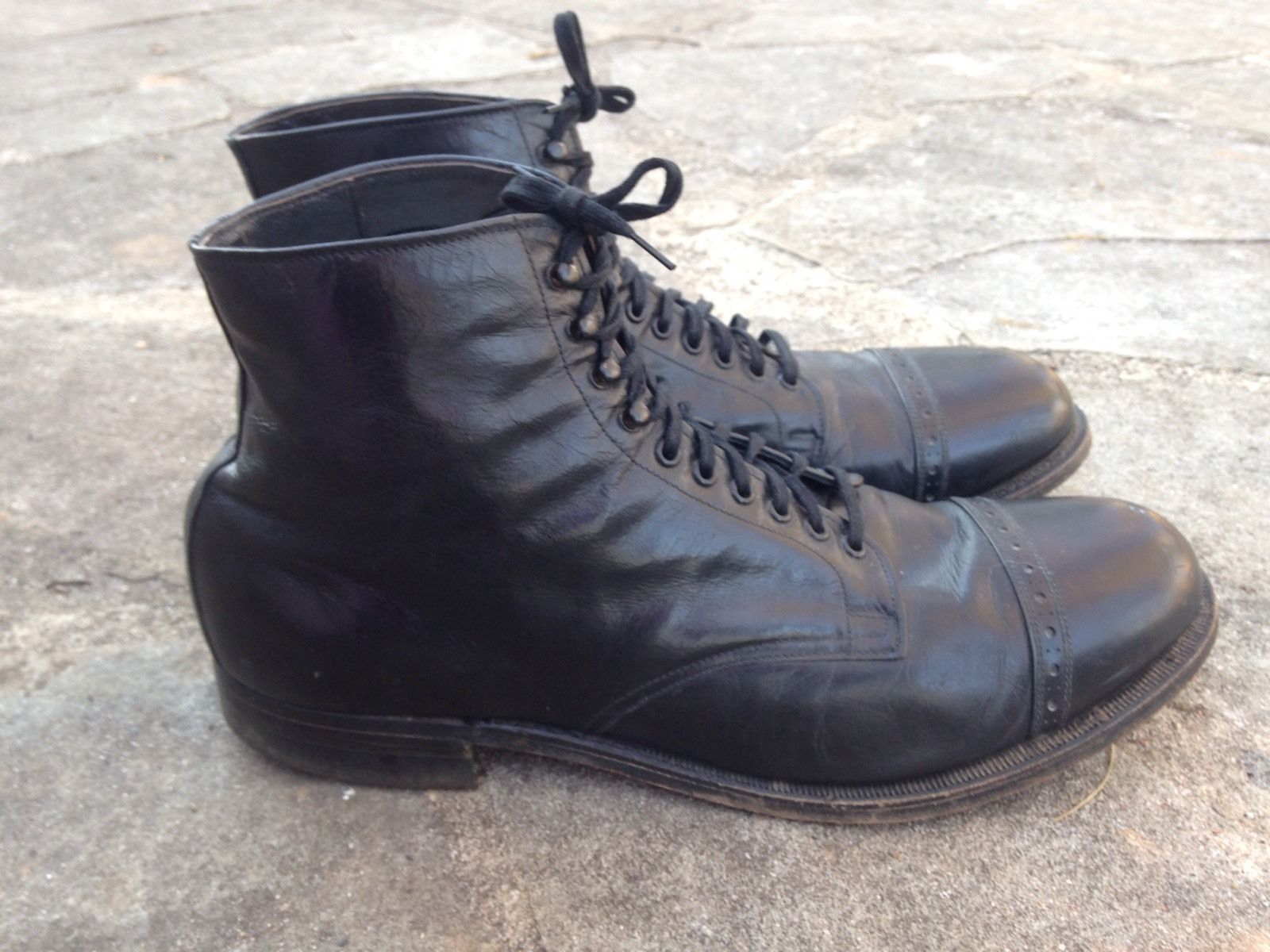 VINTAGE CHARLES CHESTER 1930s Black Boots SHOES Sz 10 in Clothing, Shoes &…