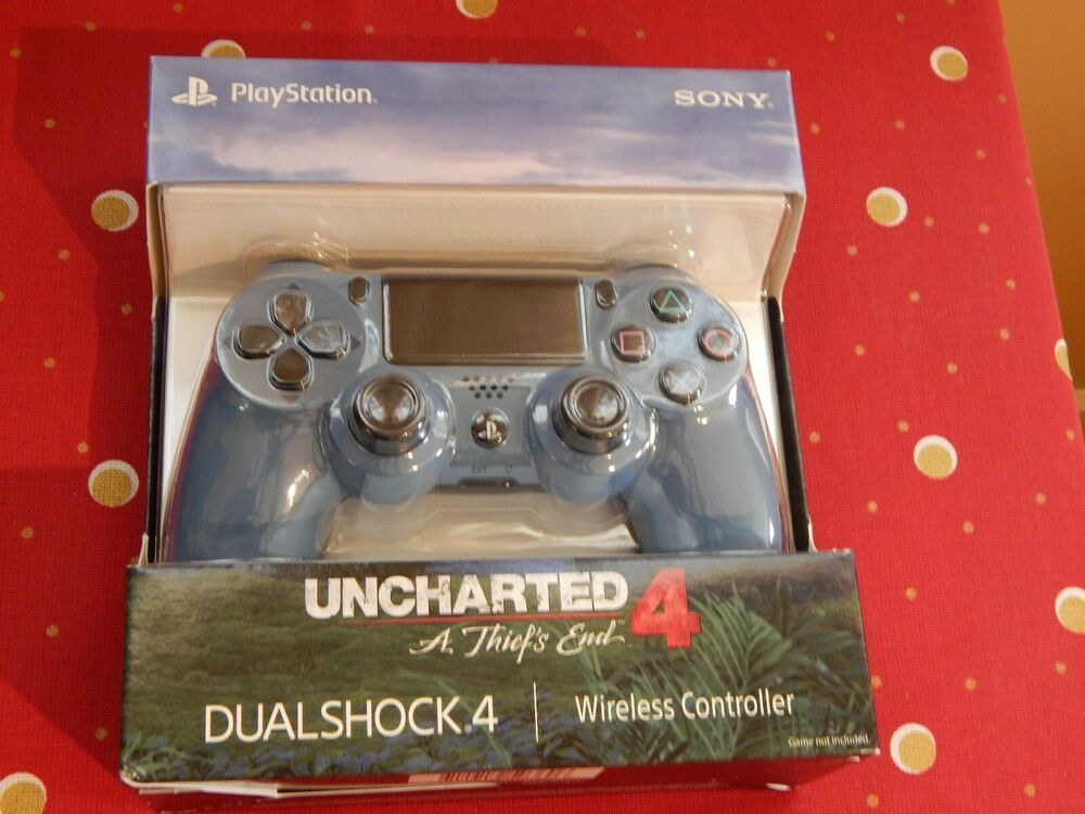 Sony Ps4 Dualshock 4 Wireless Controller Uncharted 4 Gray Blue