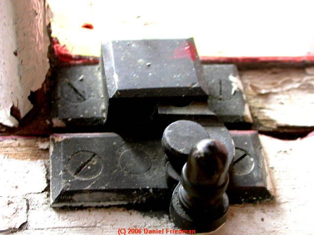 PHOTO of an 1840 window latch on a historic Vermont Home
