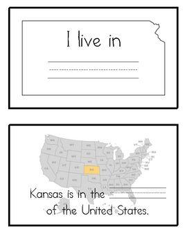 Kansas State Symbols BookletBlank Lines  Kansas Symbols and