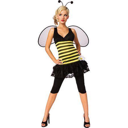 Sweet as Honey Bumble Bee Adult Halloween Costume, Women\u0027s, Size - halloween girl costume ideas