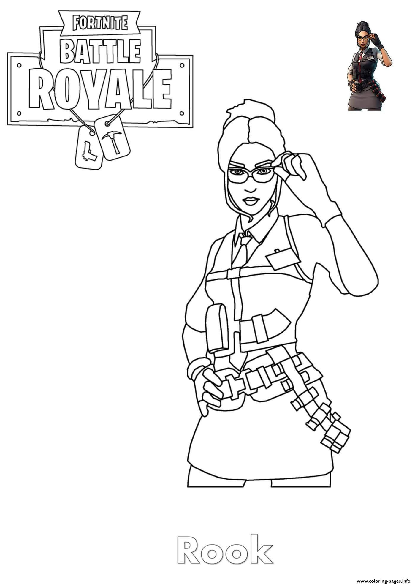 Coloring Pages for Girls Rook fortnite Girl Coloring Pages