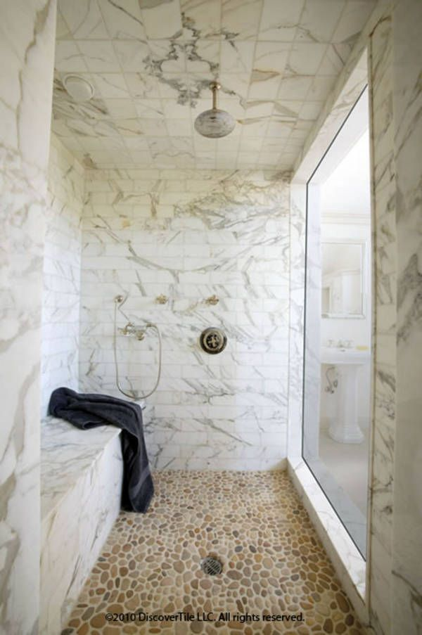 White Marble Steam Shower Another Thought For Non Slip Floor Tile