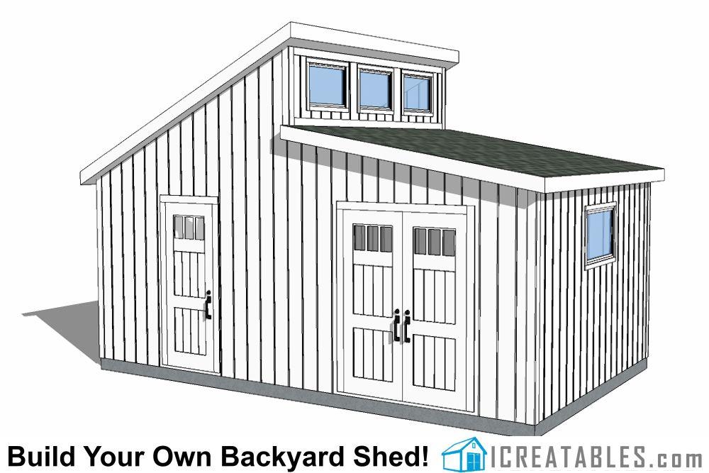 20x12 Clerestory Shed Plans Dormer Shed Plans Shed Shed Design Shed Plans