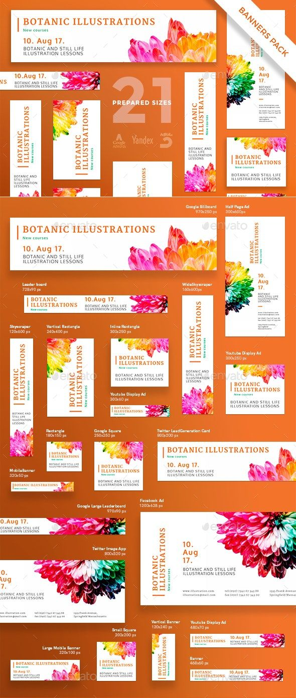 Botanic Illustrations Banner Pack