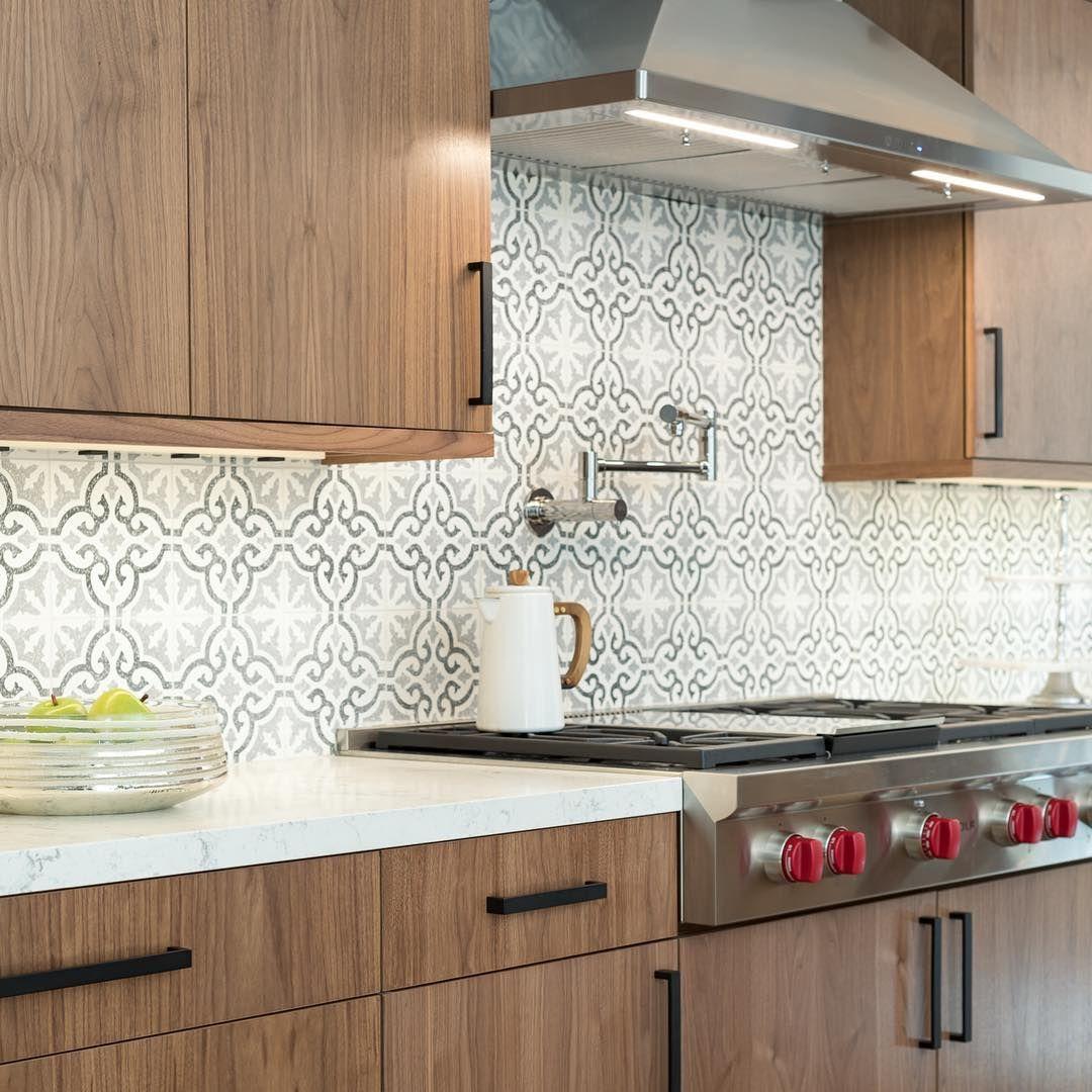 Modern walnut kitchen with chic industrial accents. Love ...