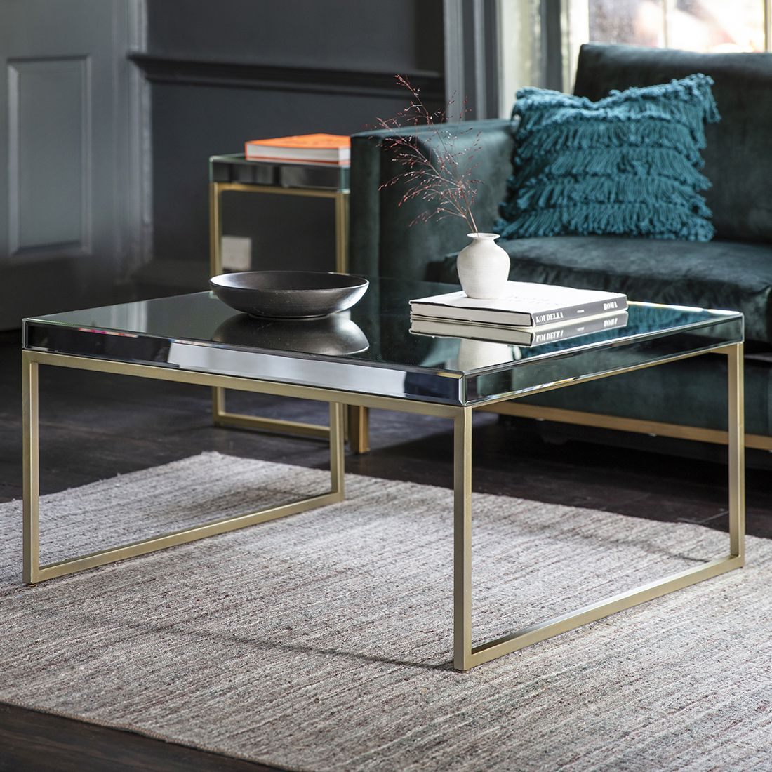 Champagne Gold Mirrored Coffee Table Coffee Table Mirrored Coffee Tables Coffee Table Square