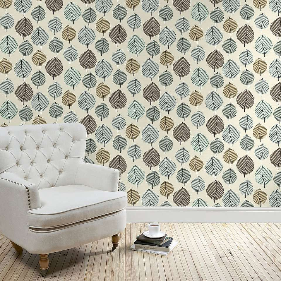 regan duck egg wallpaper dunelm lounge kitchen. Black Bedroom Furniture Sets. Home Design Ideas