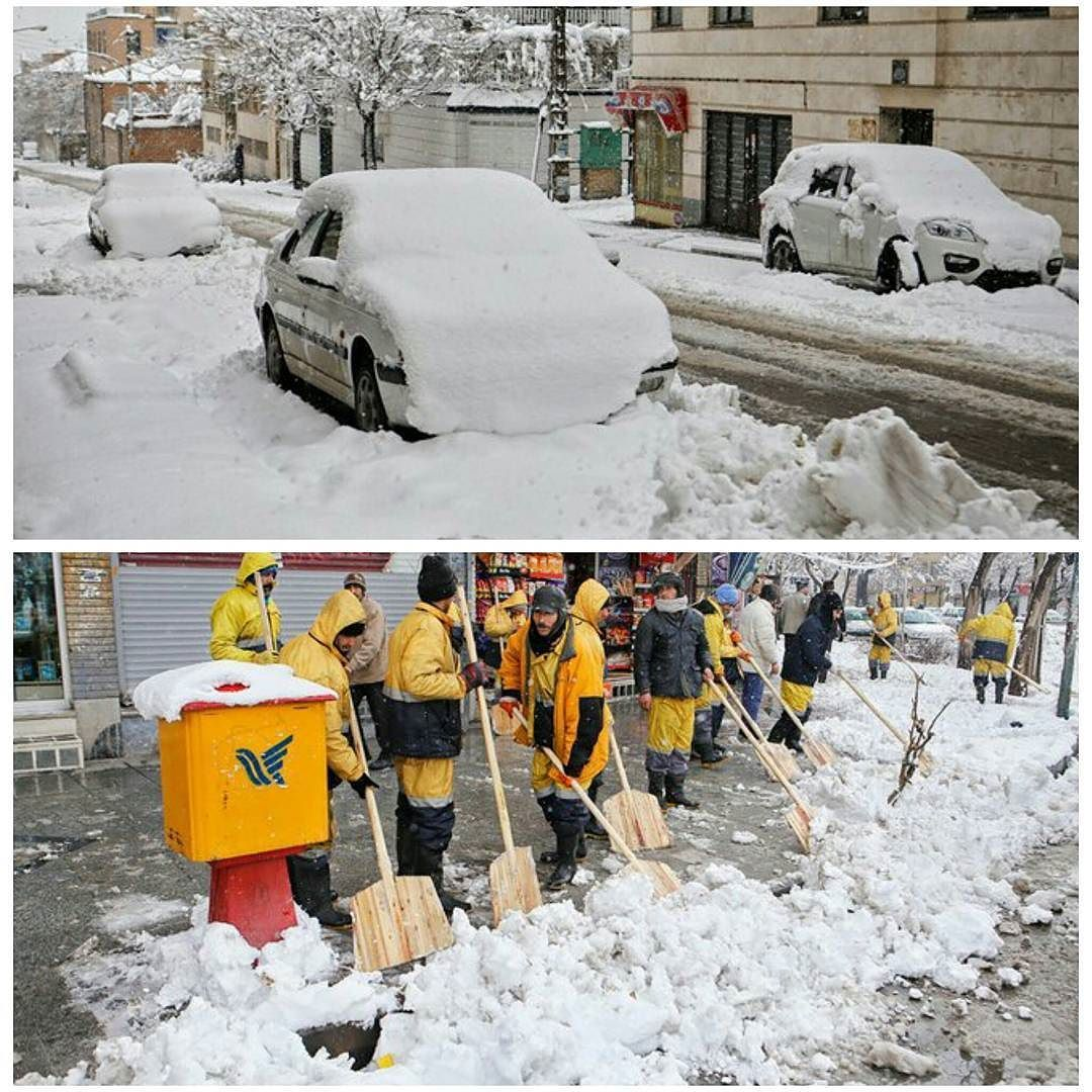 شبكة أجواء ايران صور لتساقط الثلوج الكثيفة في همدان امس Instagram Posts Instagram Photo
