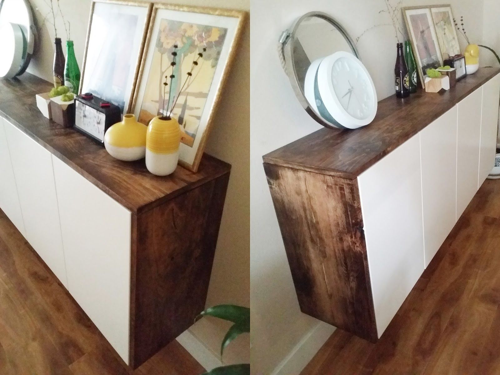 Credenza Table Ikea : Akurum floating credenza ikea hack toolsandrags clunbury