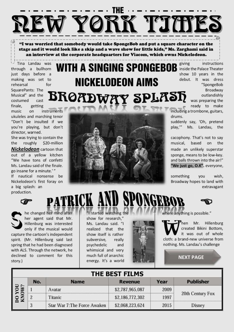 Newspaper Template On Word New York Times Newspaper With Regarding Newspaper Template For Newspaper Template Word Newspaper Template Newspaper Template Design