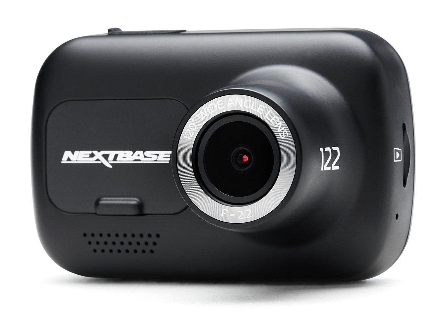 The Nextbase 122 is the new standard entry level Dash Cam, ideal for the younger or first time driver. It uses a brand new slick design, with a bright and clear 2-inch high resolution screen. The 122 utilises an improved F2.2 lens with recording at 720p HD to capture those all-important details. It features a higher accuracy G sensor and Intelligent Parking Mode for increased protection. This can be used to record any physical movement on the vehicle when left unattended and is designed to work