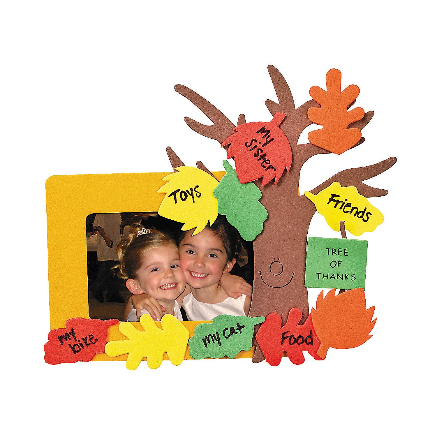 Diy tree of thanks tree of thanks picture frame magnet craft kit tree of thanks picture frame magnet craft kit capture smiles with this tree craft kit have kids use their own markers to write their blessings jeuxipadfo Gallery