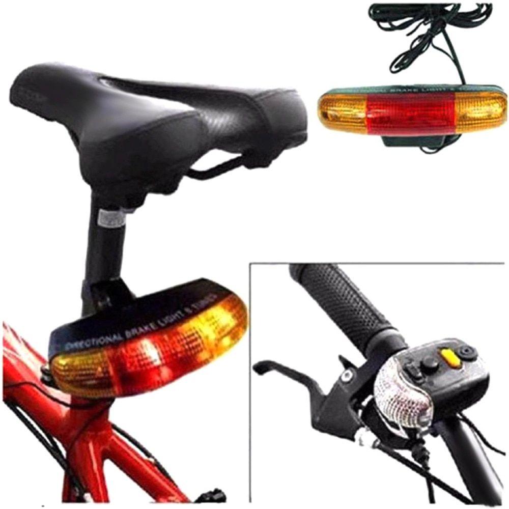 Bicycle Bike Cycling MTB 7 LED Turn Signal Lamp+Tail Brake Light+Electric Horn