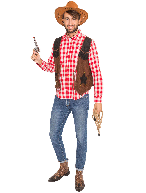 8a3f5548357132 Cowboy Joe Kostüm selbst zusammenstellen » Deiters  cowboy  Weste  Hemd   rot