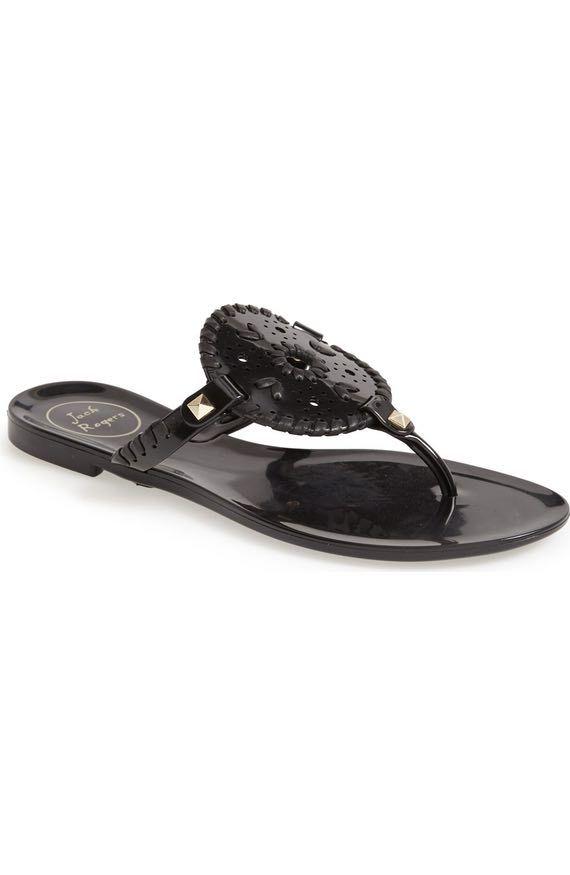 46c2848fb57a Georgica Jelly Flip Flop. Georgica Jelly Flip Flop Black Sandals