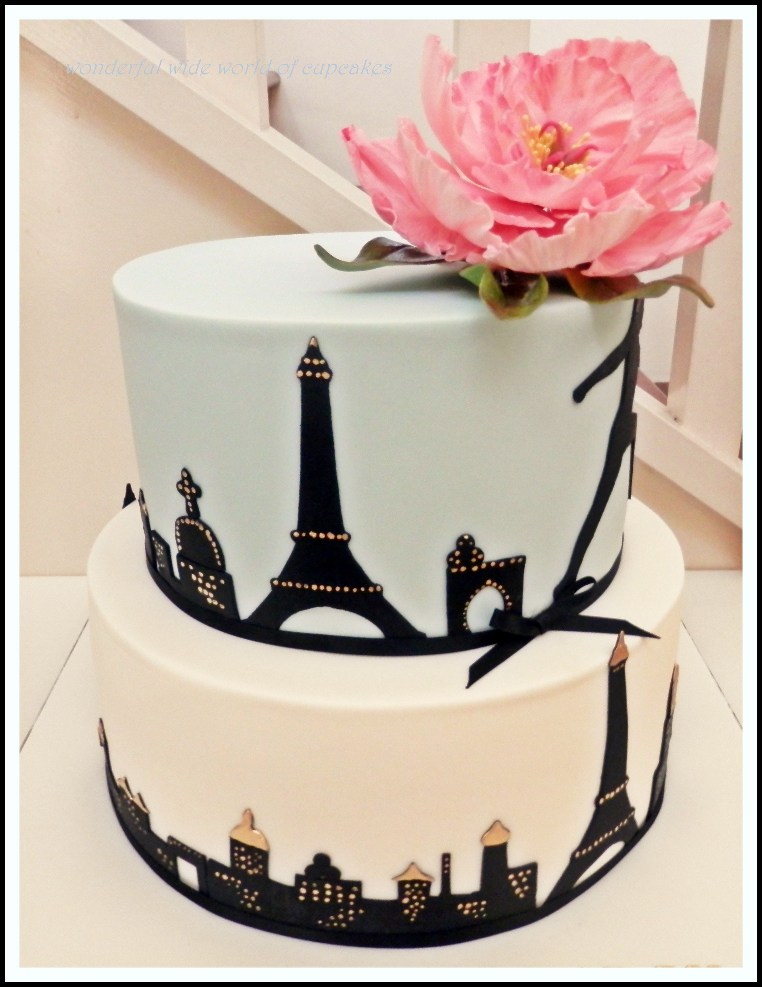 A Paris Themed Cake Made For A Beautiful Friends Birthday - Birthday cake paris france