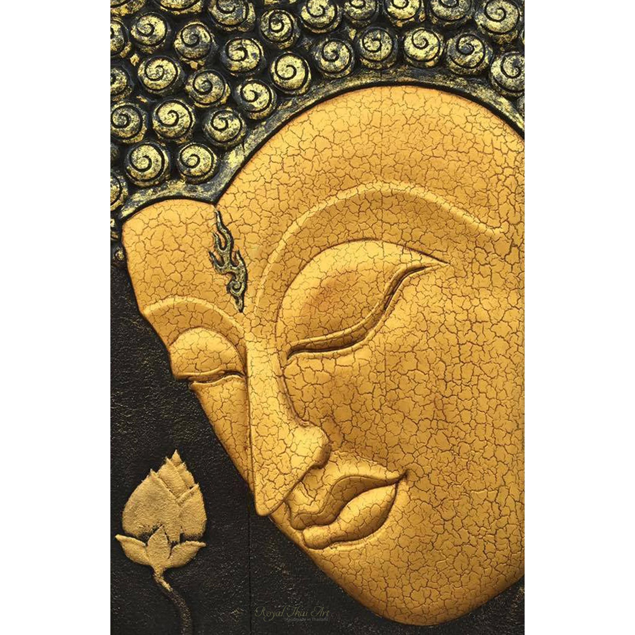 Carved Wooden Wall Art Gautama Buddha Painting | Buddha Paintings ...