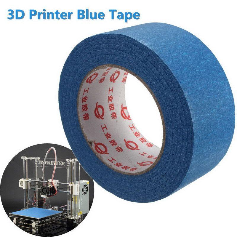 Printer Blue Masking Tape 50mm Wide 50m Reprap Bed Tape Painters Masking VEC71 T30