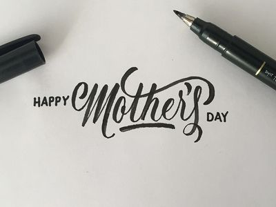 Mother S Day Lettering Hand Lettering Inspiration Creative Lettering