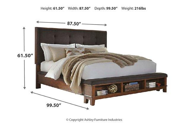 Montana 6piece Platform Kingsize Bedroom Set, Brown