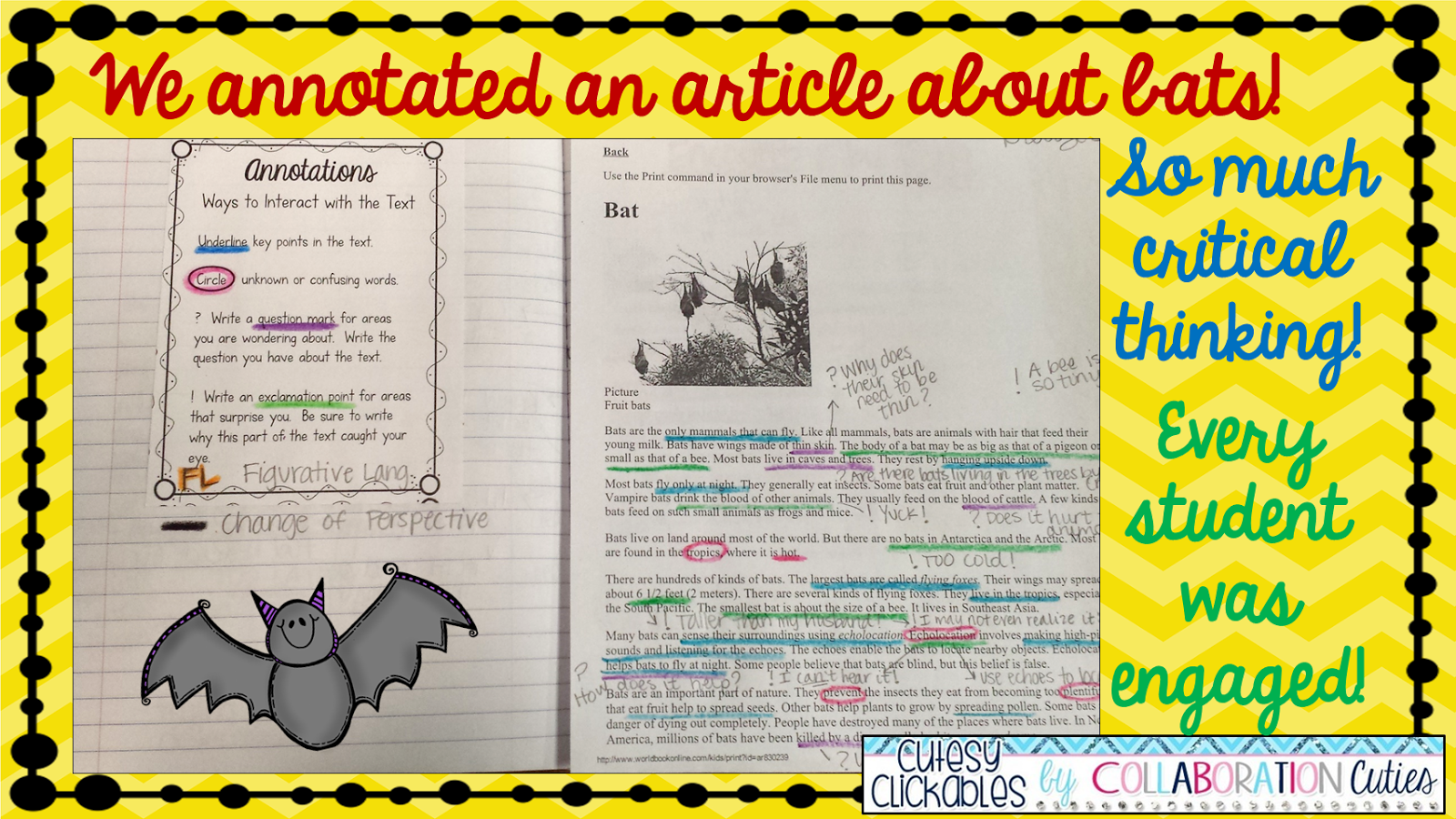 Close Reading And Annotations Bats