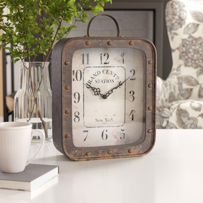 Rustic Analog Table Clock 2020 Table Clock Farmhouse