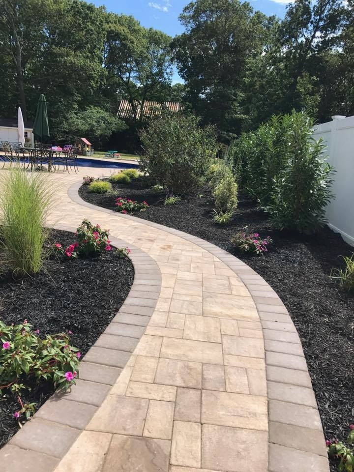 Every Day Is A Winding Road Paver Patio Patio Pavers Design Concrete Paver Patio