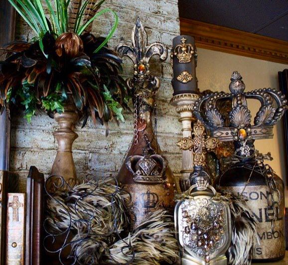 Pin By Michelle Schank On Home Decorating: Gorgeous Altered Art Bottles By Michelle Butler Designs
