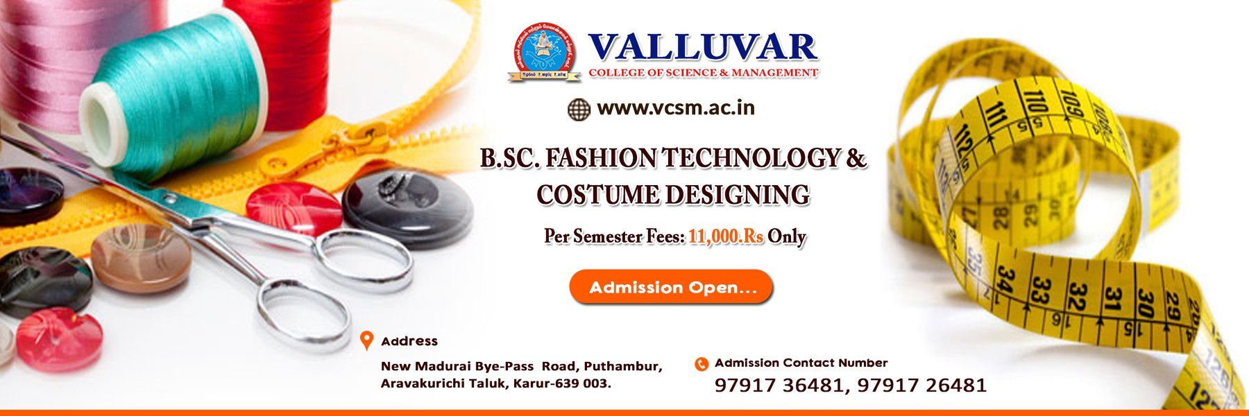 Best Science And Management In Karur Admission Going On For Bsc Fashion Technology And Costume Designing For Admission Conta Technology Fashion Karur Design