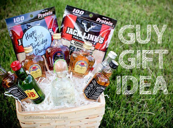 Basket Of Booze Fun Guy Birthday Gift Idea Man Birthday