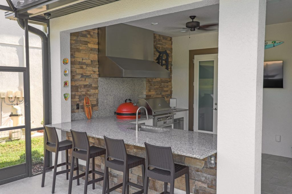 custom outdoor kitchen with vent hood in lutz just grillin outdoor living in 2020 outdoor on outdoor kitchen ventilation id=59883
