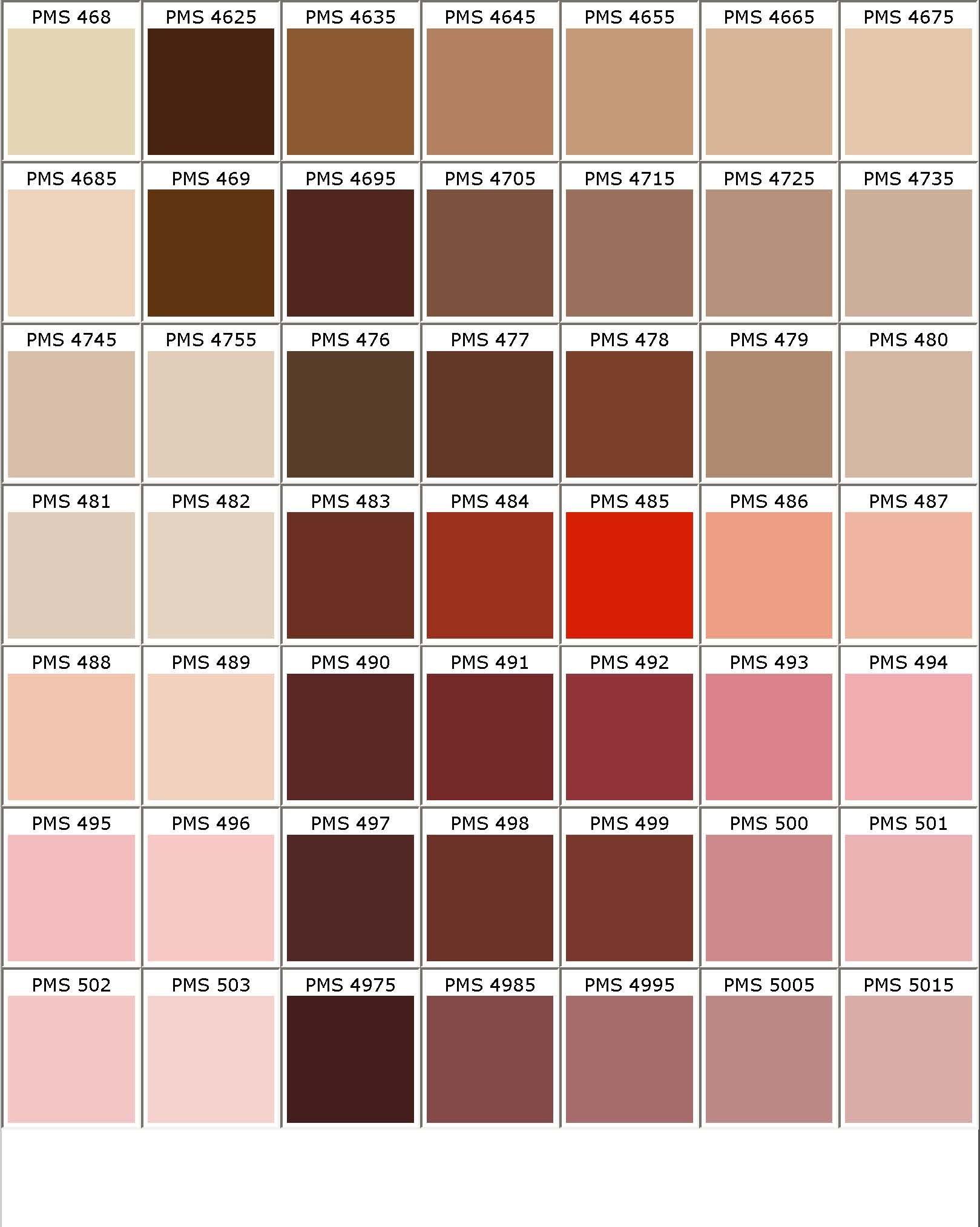 Color Chart | fashion illustration in 2019 | Pantone color