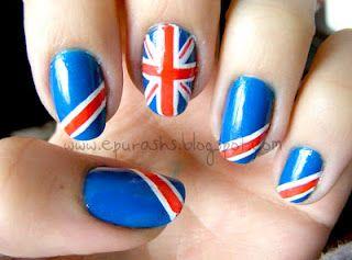 Union Jack Accent Nails