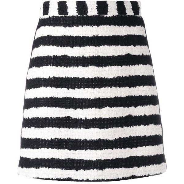 MSGM Bouclé Stripe Skirt ($425) ❤ liked on Polyvore featuring skirts, fine lines, kirna zabete, kzloves, tuxedo suit, dinner suit, boucle skirt, stripe skirts and msgm skirt