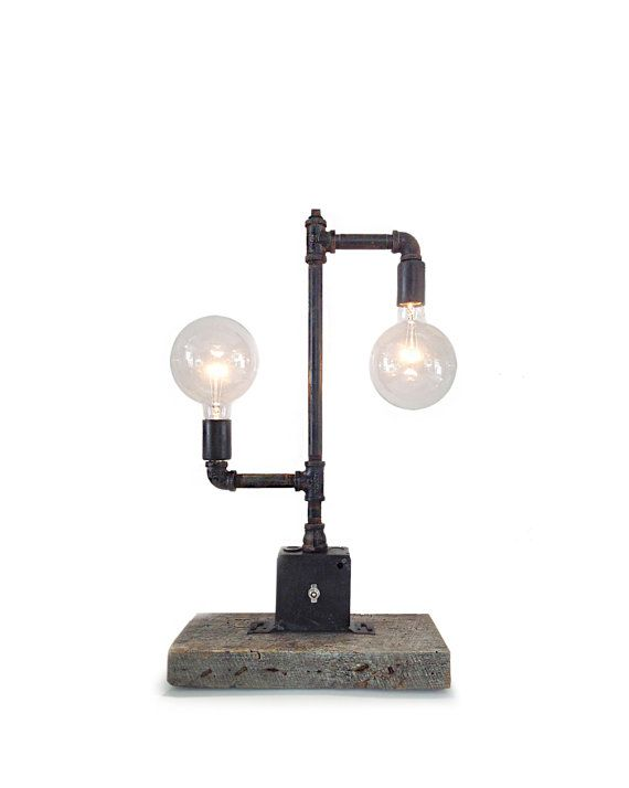 Edison Bulb Pipe Lamp  Industrial Pipe by IndustrialLightworks, $139.00