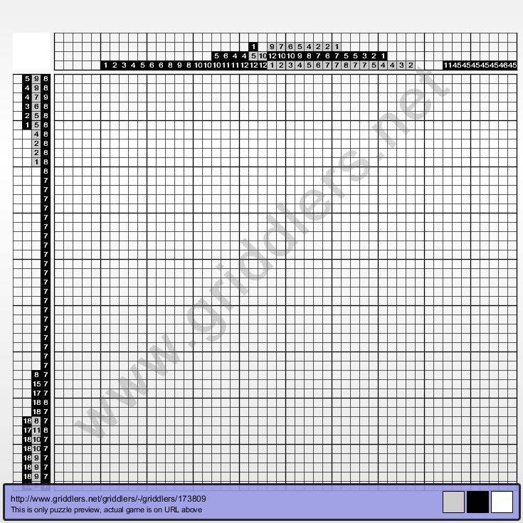 Griddlers Puzzle 173809 Letter B