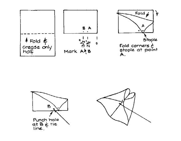 make your own kite using a piece of paper and some string