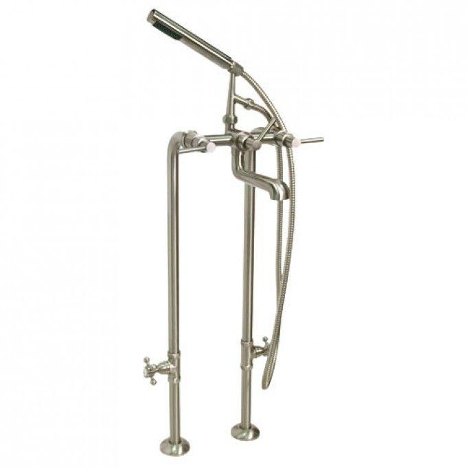 Modern Freestanding Tub Faucet With Modern Hand Shower Supplies