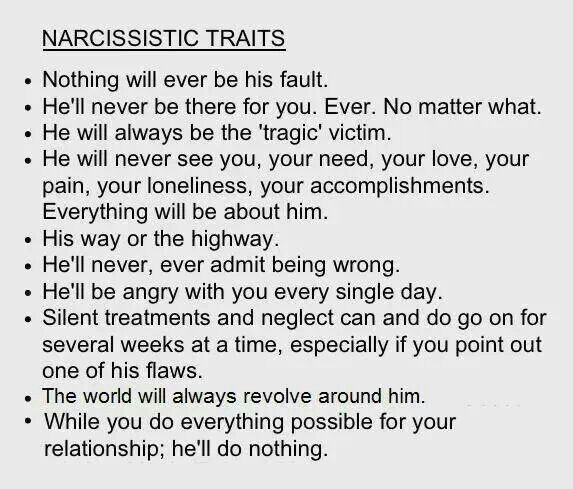 Narcissistic spouse signs