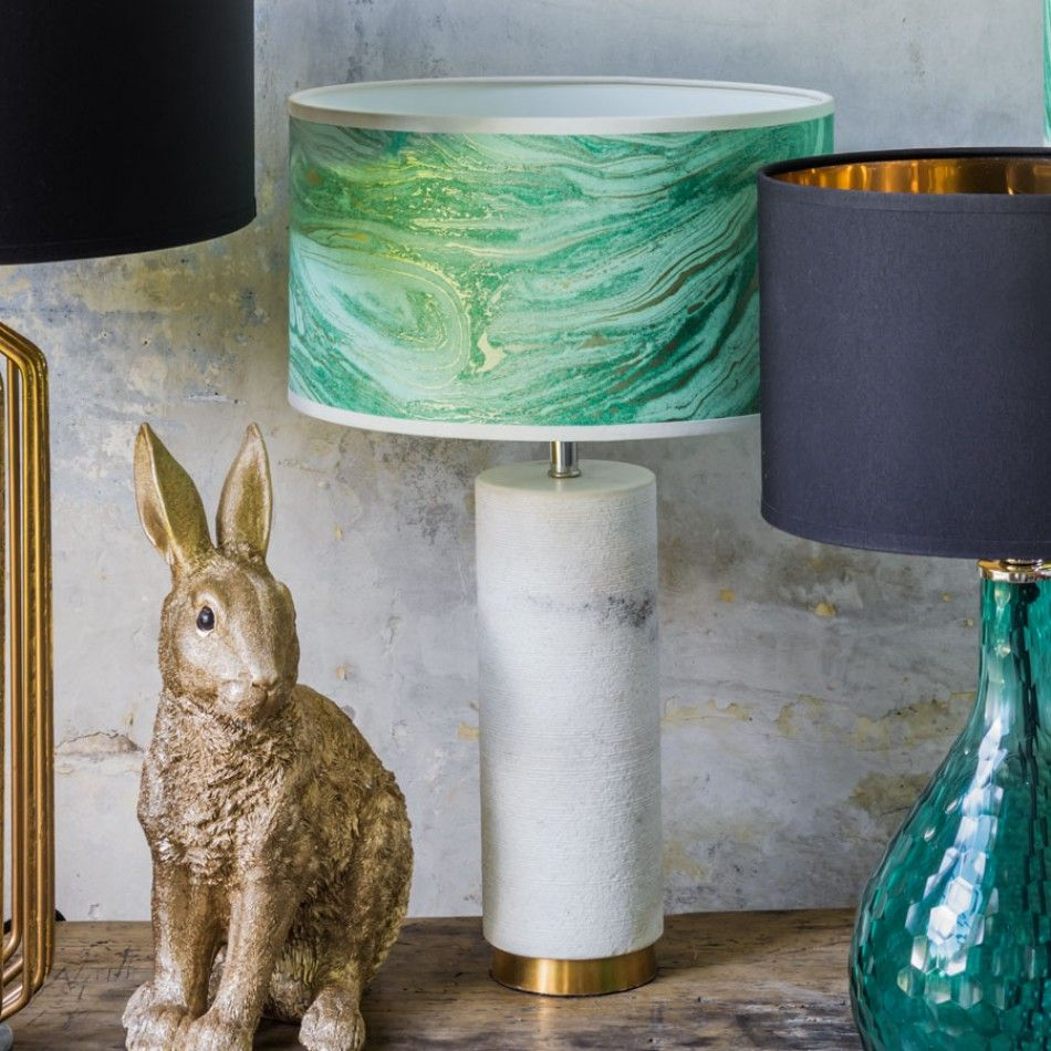White Marble Shimmering Lamp £110 Graham And Green