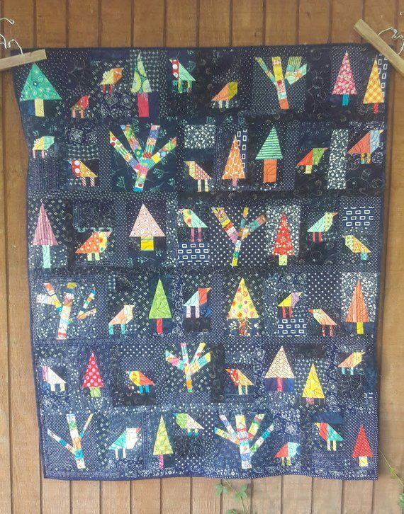 Enchanted Forest a whimsical, free form, scrap quilt PDF